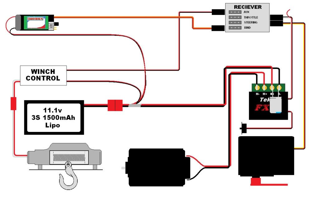 Wiring Diagram 12v Winch : Volt remote control winch wiring diagram